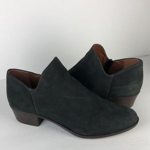 Lucky Brand Brixlee Black Leather Ankle Boots 10